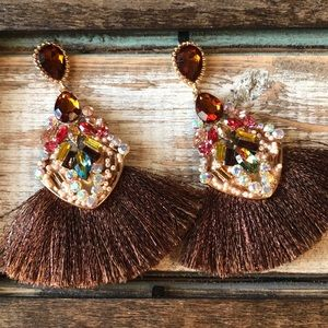 statement fringe earrings
